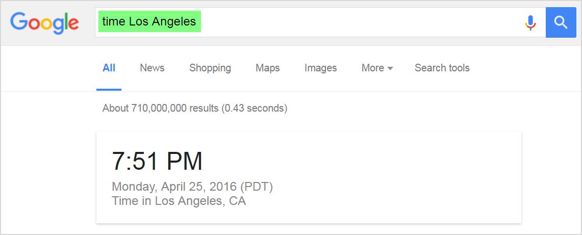 Google Shortcuts - Time Operator