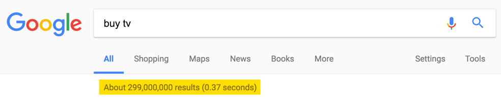 Millions of Google Search Results