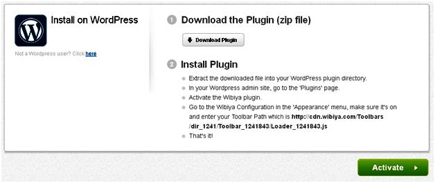 Wibiya Plugin for WordPress