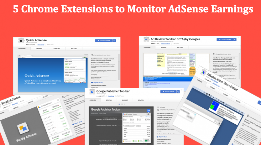 5 Chrome Extensions to Monitor AdSense Earnings