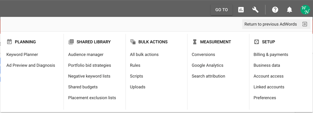 AdWords Account Tools
