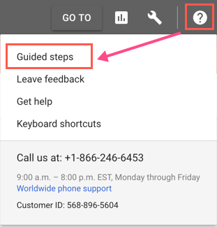 AdWords Guided Setup