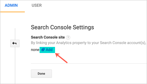 Add New Search Console Property