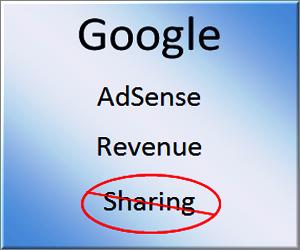 Avoid AdSense Revenue Sharing
