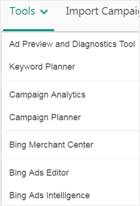 Bing Ads Tools