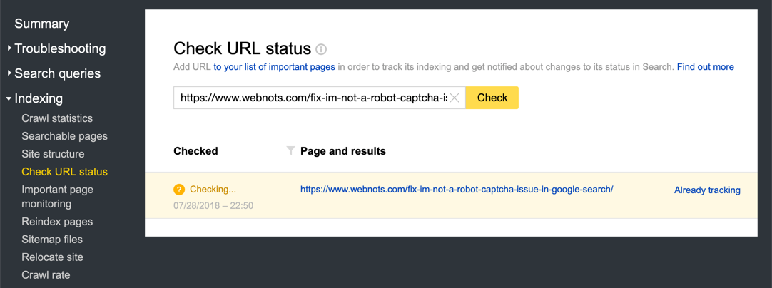 Check URL Status