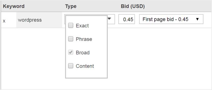 Choosing Keywords for Ads in Bing Ads