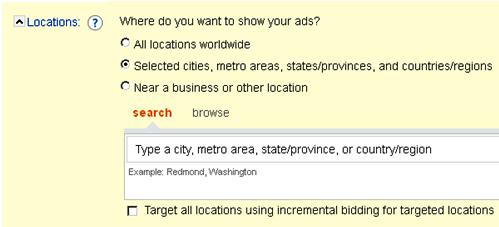 Microsoft adCenter Campaign Settings