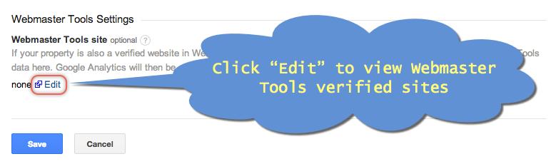 View Webmaster Tools Verified Sites