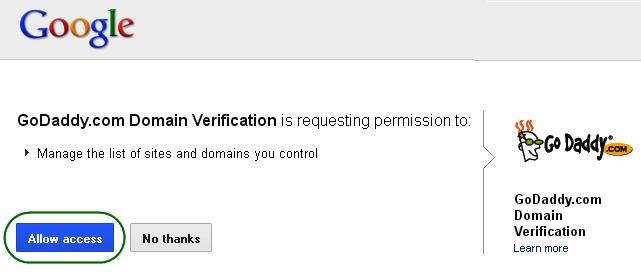 Allow Access from Domain Registrar (GoDaddy) - Step 4