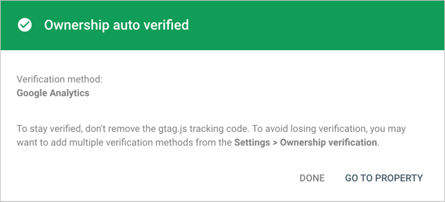 Ownership Auto Verified