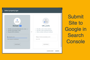 Submit Site to Google in Search Console