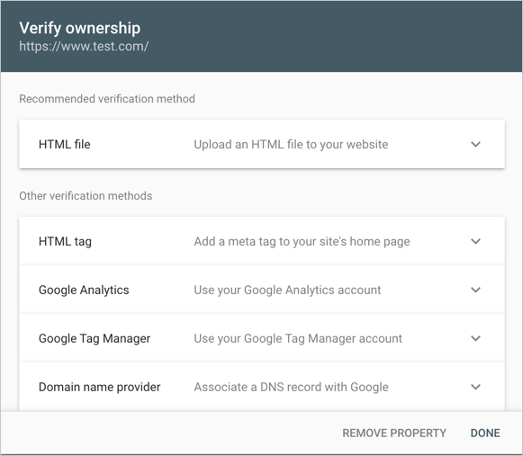 Verify Ownership with URL Prefix Method