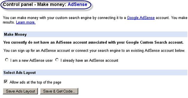 Make Money With AdSense from Custom Search Box