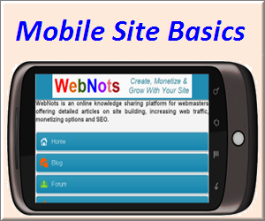 Basics of Creating a Mobile Site