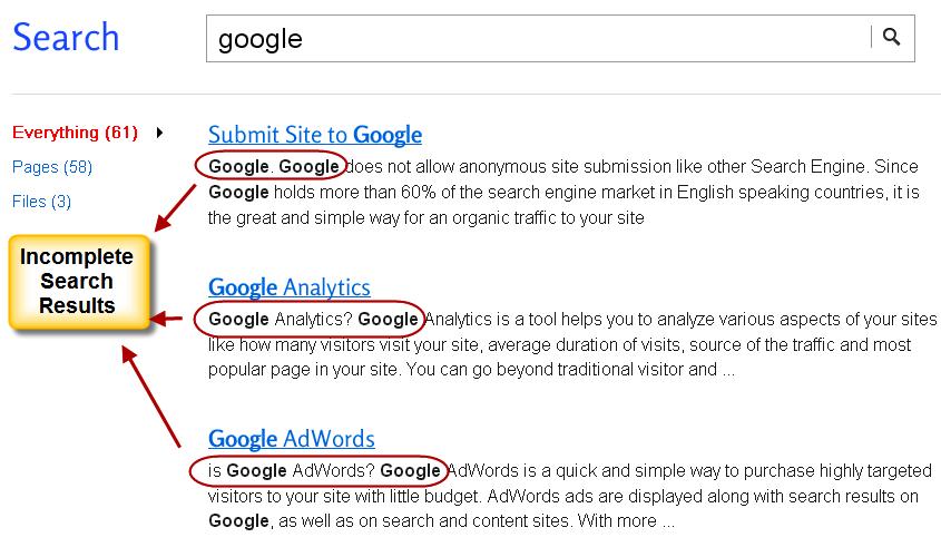 Проблемы с поиском по сайту Weebly
