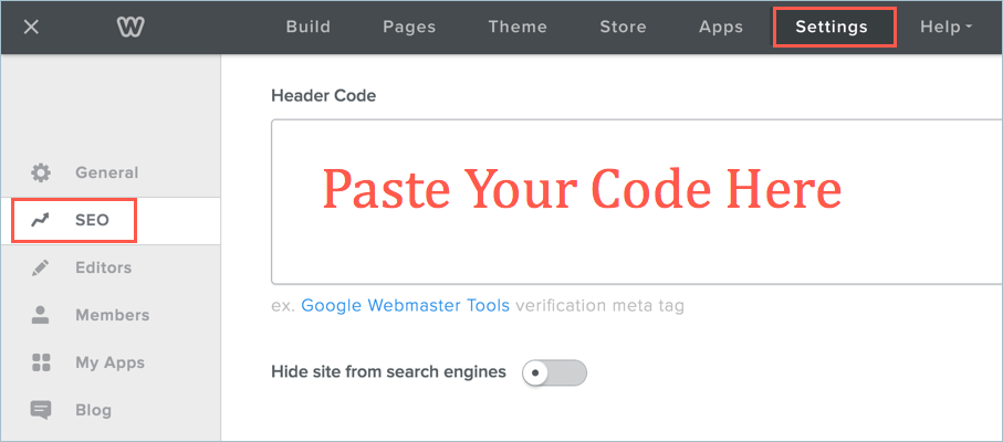 Add Favicon Link in Weebly Header Code Section