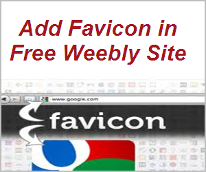 How to Add Favicon to Free Weebly Site?