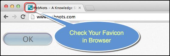 Check Favicon in Browser