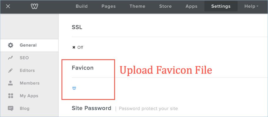 Фавикон для пользователей Weebly Pro