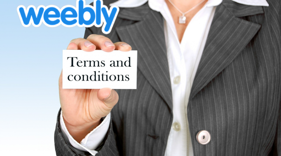 Weebly Terms and Conditions for Account Holders