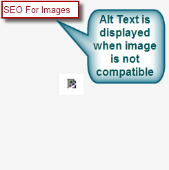 Alt Text in non-compatible Image