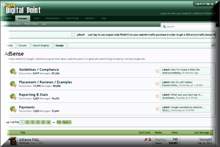 Top 3 Google AdSense Forums - WebNots