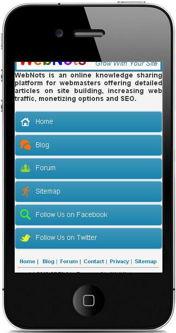 Образец мобильного сайта