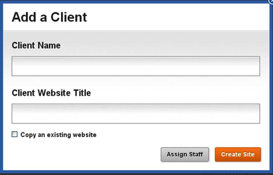 Add Client and Assign Staff
