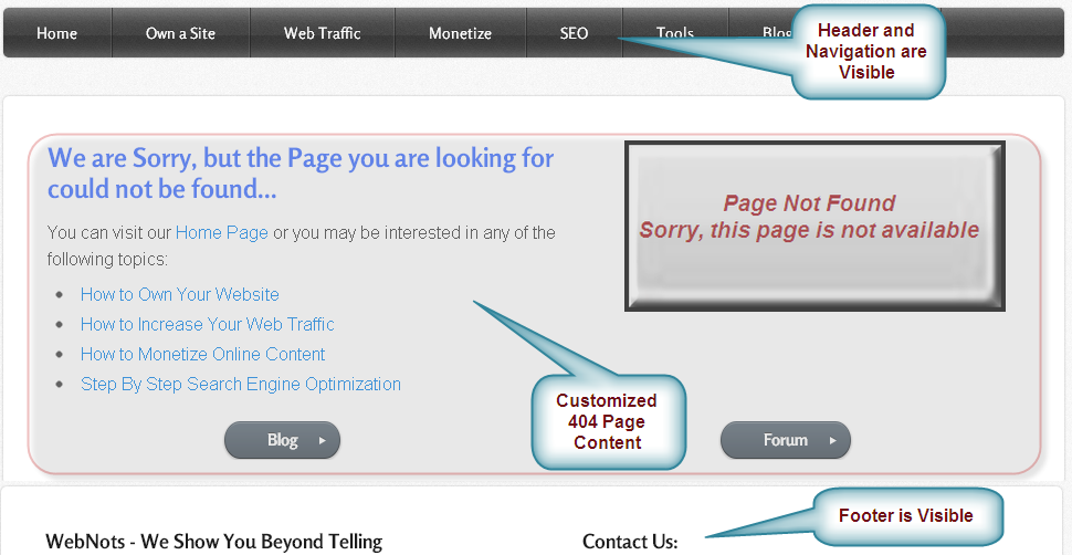 Advantage of Custom 404 Page in Weebly Site