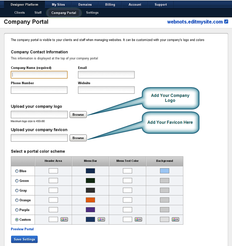 Customize Your Own Company Portal