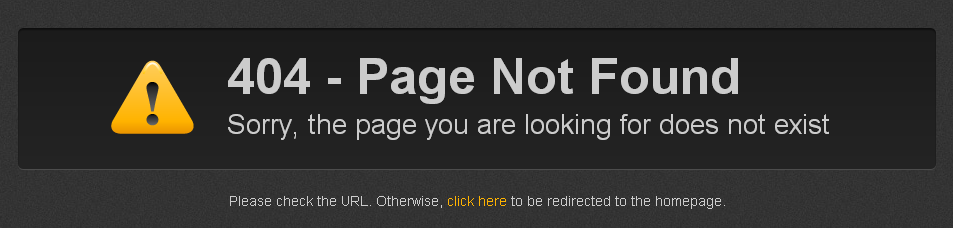 Standard Weebly 404 Page