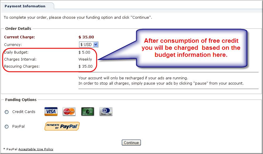 Bidvertiser Payment Options