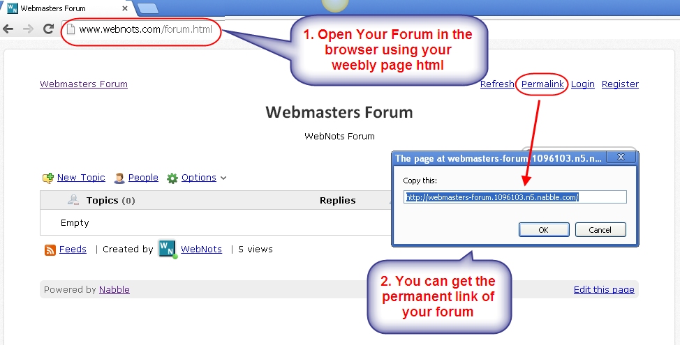 Embedded Nabble Forum in Browser