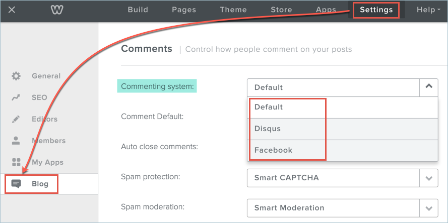 Enable Facebook Comment System in Weebly Blog