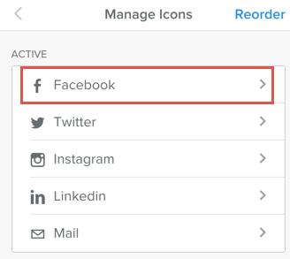 Facebook Social Icon in Weebly