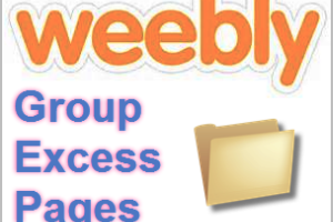 Group Excess Pages in Weebly