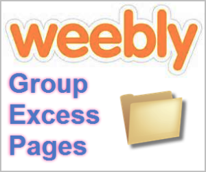 How to Group Excess Pages in Weebly Navigation?