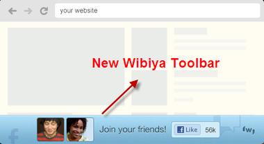 Look of New Wibiya Toolbar