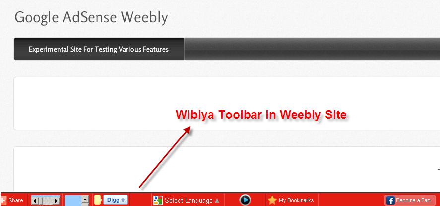 Look of Old Wibiya Toolbar