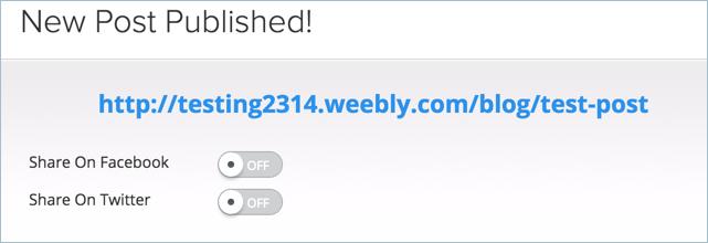Manually Sharing Blog Posts