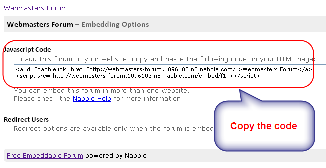 Nabble Forum Embed Code