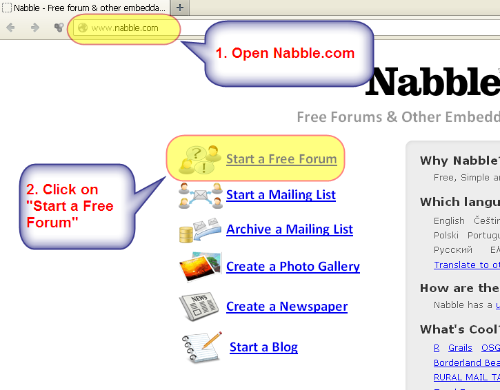 Nabble - Free Options