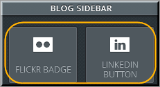 Social Elements in Blog Sidebar