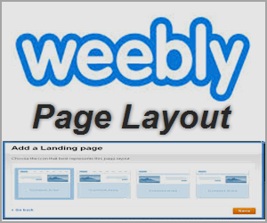 Weebly Page Layout Selection
