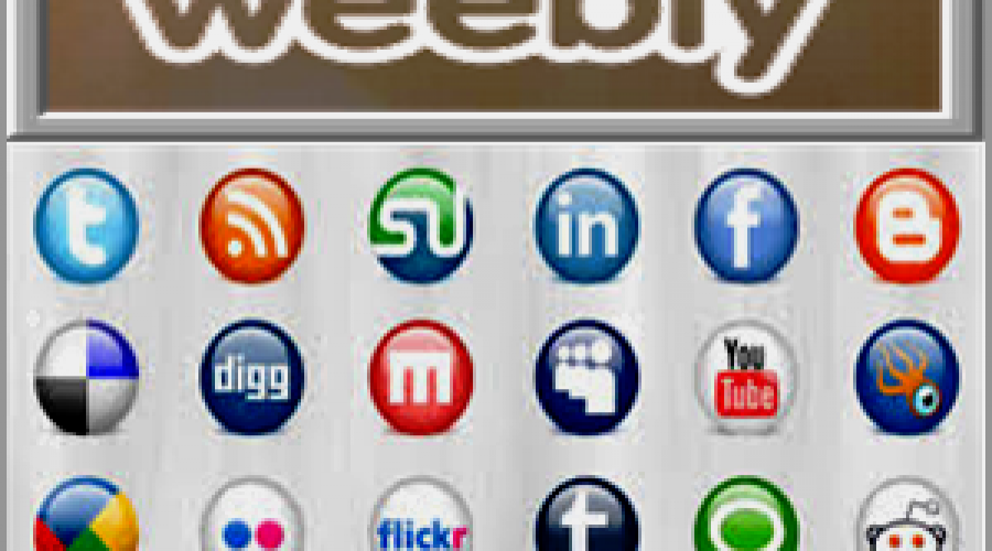 Add and Customize Social Icons in Weebly Site