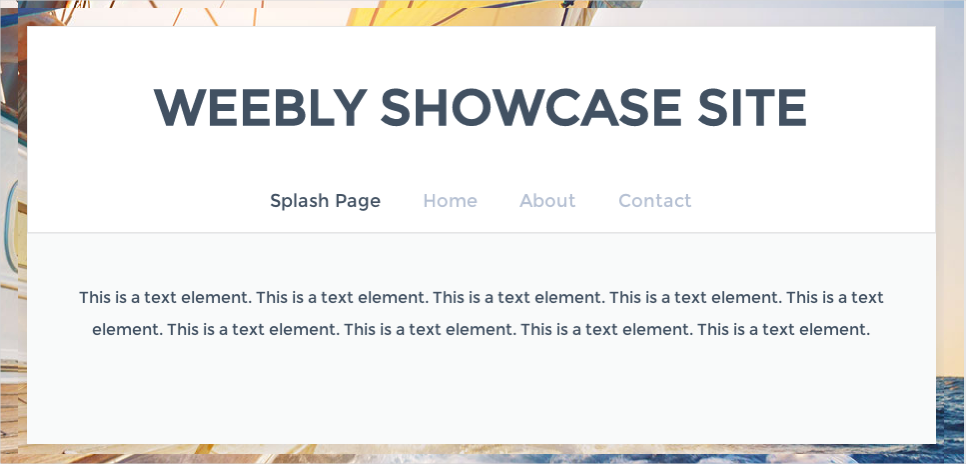 Weebly Splash Page Layout