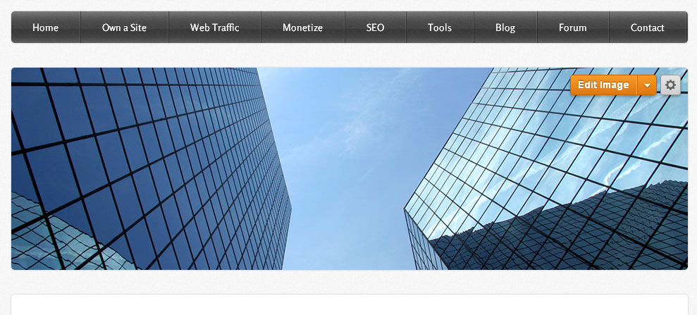 Weebly Tall Header Page Layout