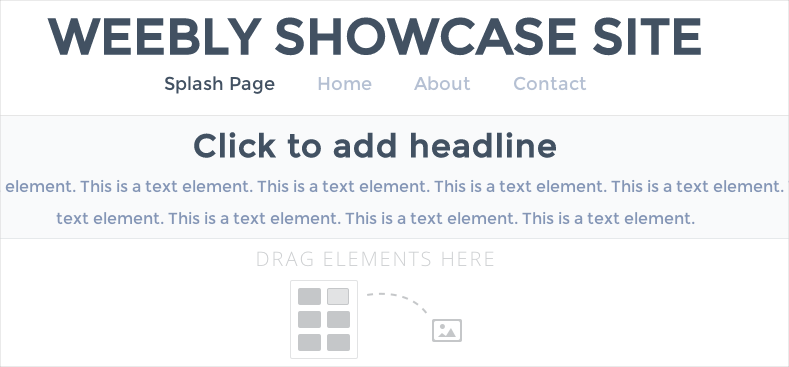 Weebly Title Page Layout