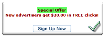 Bidvertiser Special Offer for Free $20 Coupon
